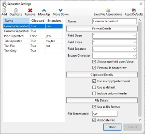 How To Configure Delimiters or Field Separators - Rons Place